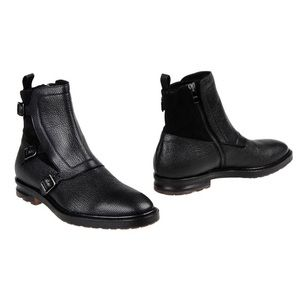 ALEXANDER MCQUEEN Leather Strap Boots 43